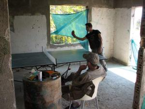Ping Pong in Nicosia Cyprus Army outpost