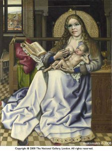 Virgin and Child Before a Firescreen, by makismakis (assisted by Robert Campin)